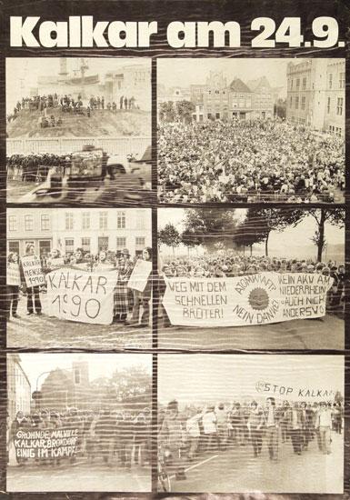 Plakat: Demo am 24.9.1977 in Kalkar