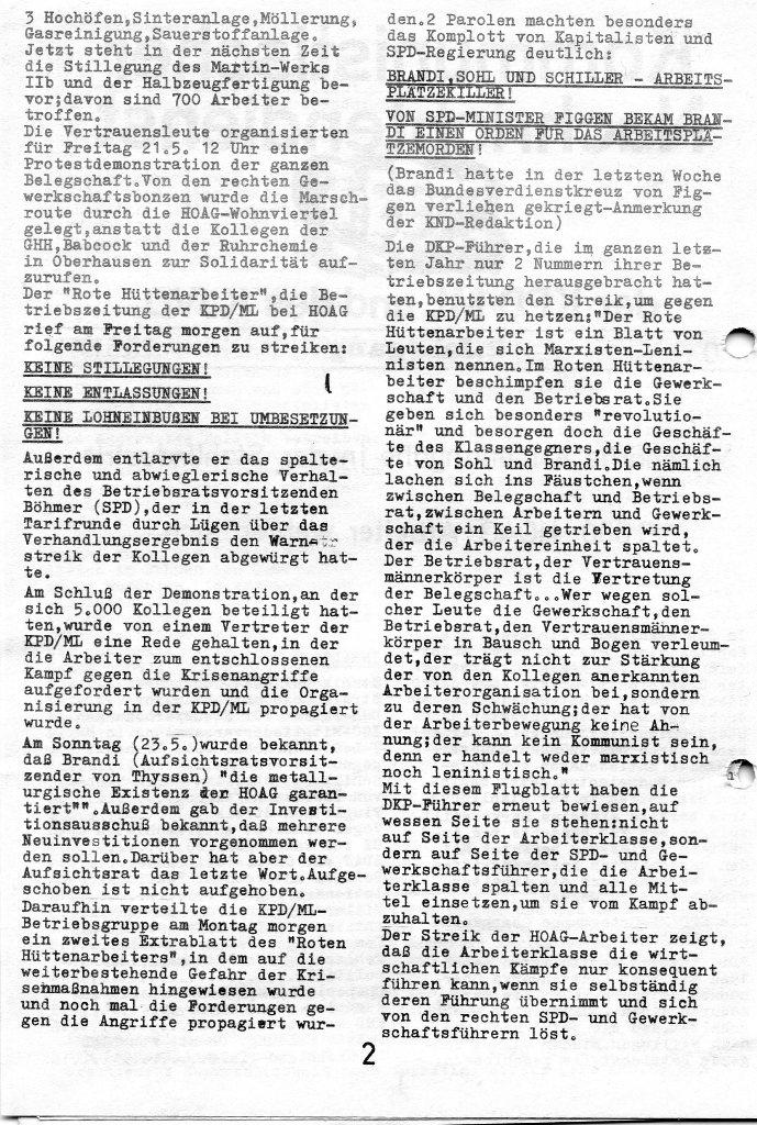 KND, Nr. 40, 2. Jg., 26.05.1971, S. 2