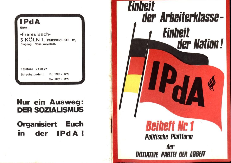 Koeln_IPdA_1975_Politische_Plattform_Beiheft_01_001