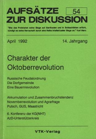 Aufsätze zur Diskussion (AzD), Nr. 54, April 1992