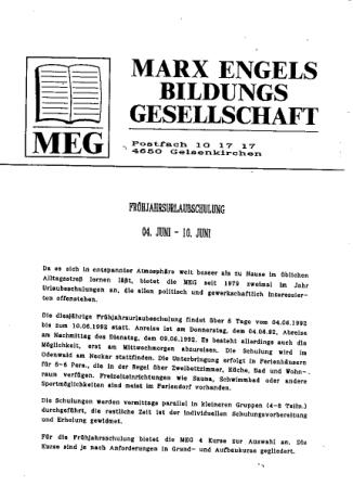 MEG_Frühjahrsurlaubsschulung 1992