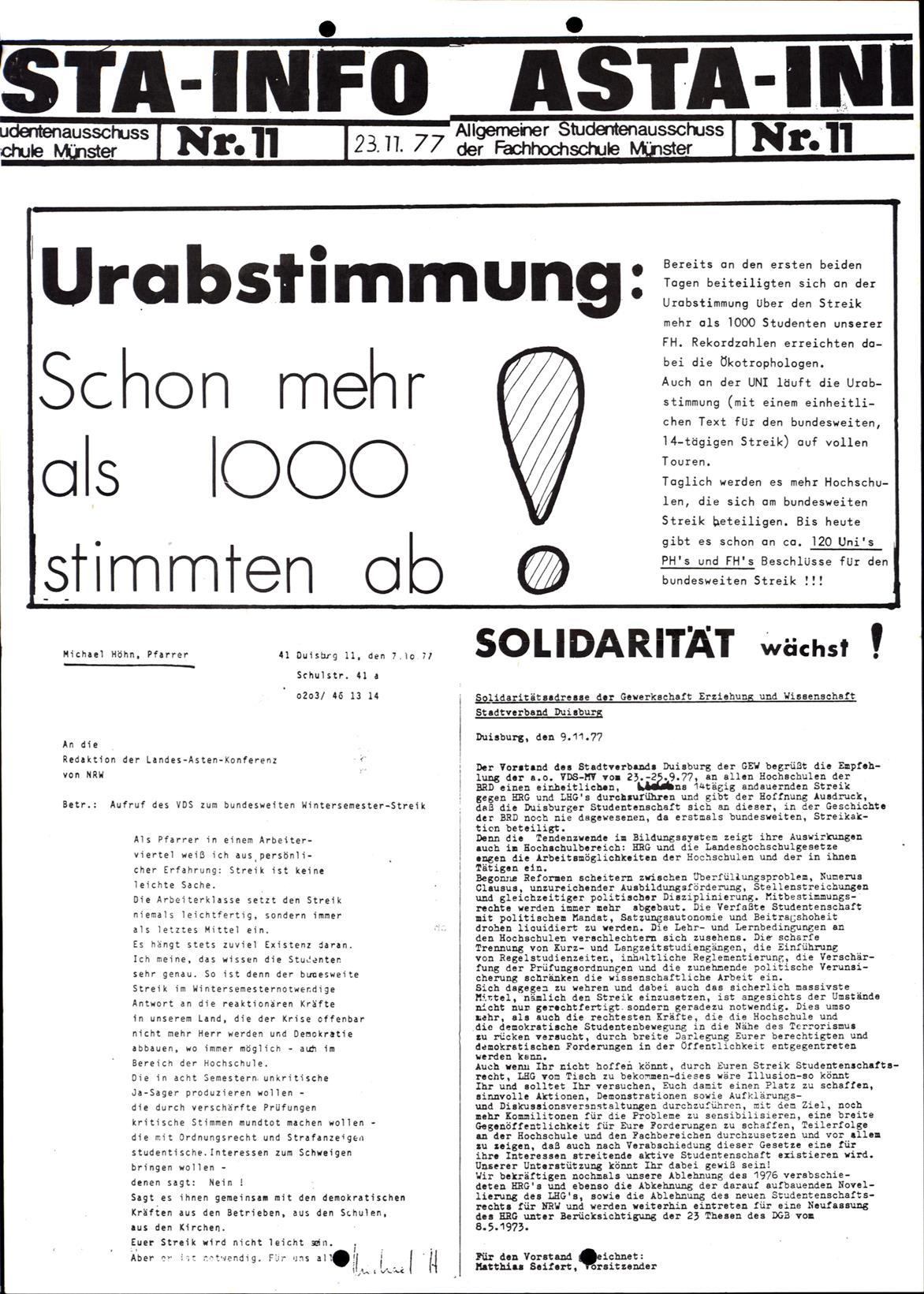 Muenster_19771121_FH_AStA_Info_11_01