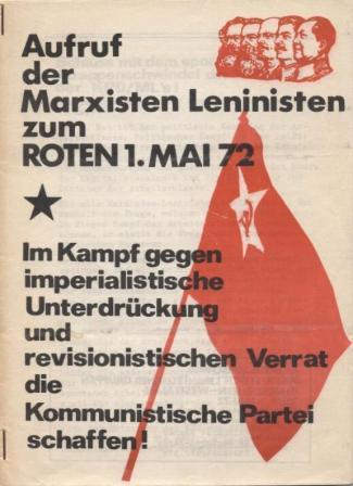 Aufruf der Marxisten_Leninisten zum Roten 1. Mai 1972