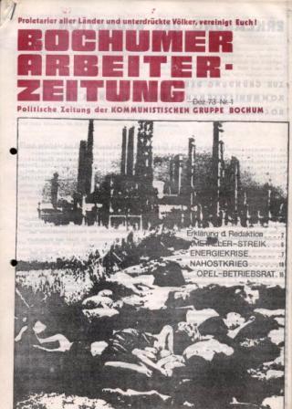 Die erste Ausgabe der BAZ (Dezember 1973)