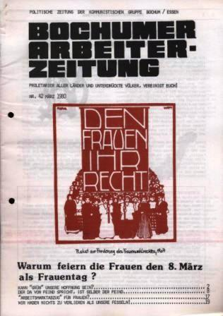 BAZ zum Internationalen Frauentag (1980)