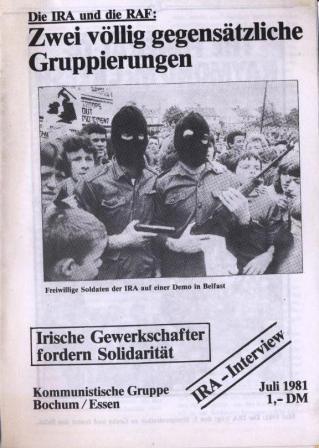 KGBE_Broschuere: Die IRA und die RAF (Jul 1981)