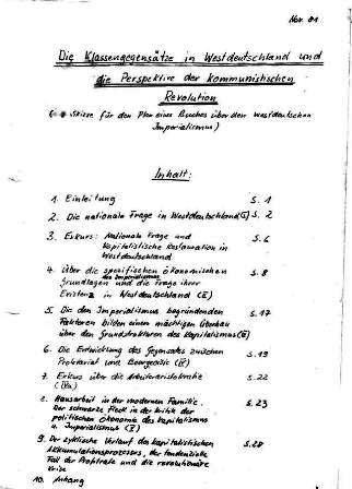 KGBE: Die Klassengegensätze in Westdeutschland ... (1981)