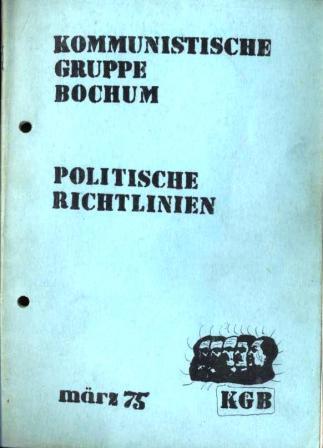 KGB: Politische Richtlinien (Maerz 1975)