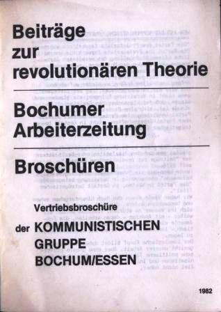 KGBE: Vertriebsbroschuere (1982)