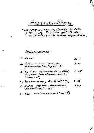 KGBE: Zusammenhänge (1982)