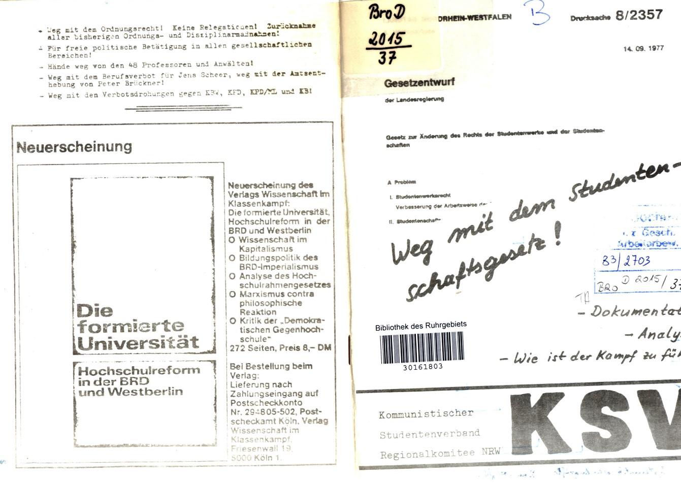 NRW_KSV_1977_Studentenschaftsgesetz_01