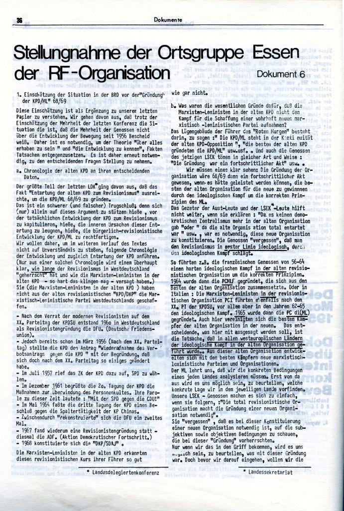 KlaPro 3/1973: Stellungnahme der OG Essen der RF_Organisation, Seite 36