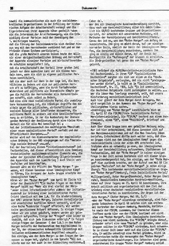 KlaPro 3/1973: Stellungnahme der OG Essen der RF_Organisation, Seite 38