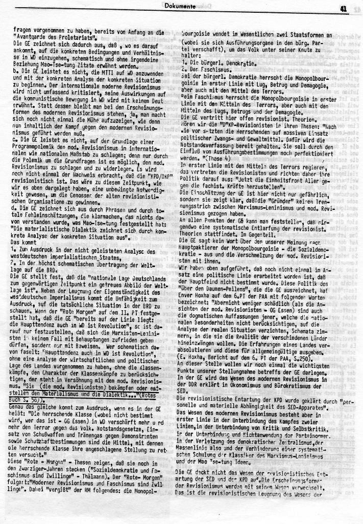 KlaPro 3/1973: Stellungnahme der OG Essen der RF_Organisation, Seite 41