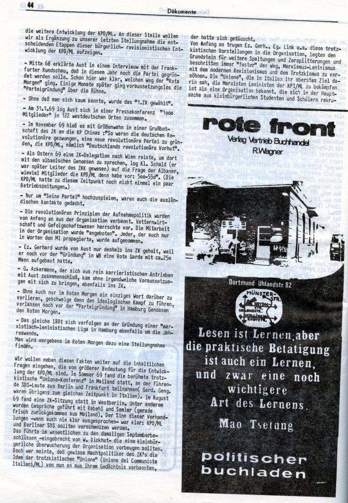 KlaPro 3/1973: Stellungnahme der OG Essen der RF_Organisation, Seite 44