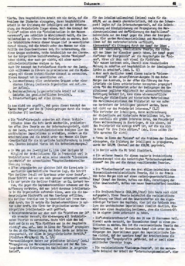 KlaPro 3/1973: Stellungnahme der OG Essen der RF_Organisation, Seite 45