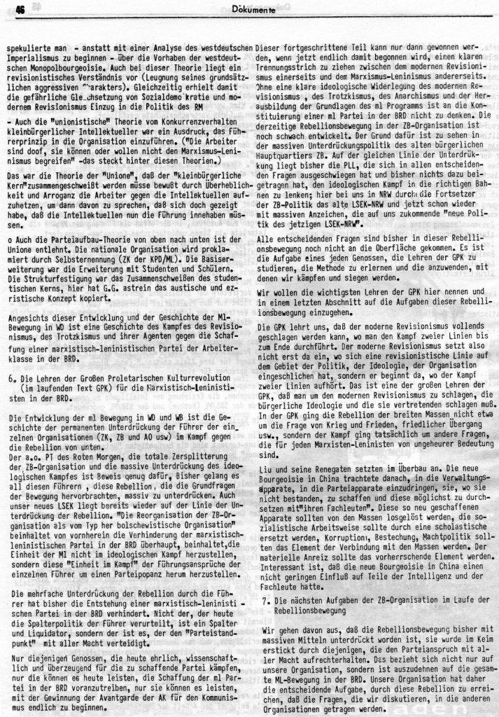 KlaPro 3/1973: Stellungnahme der OG Essen der RF_Organisation, Seite 46