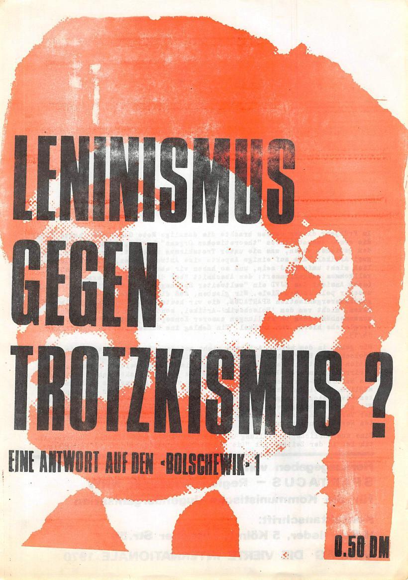 NRW_Spartacus_1970_Leninismus_gegen_Trotzkismus_01
