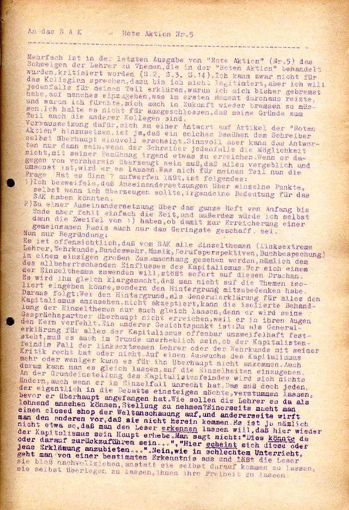 Rote Aktion _ Organ des SAK, Extra, April 1972, Seite 2