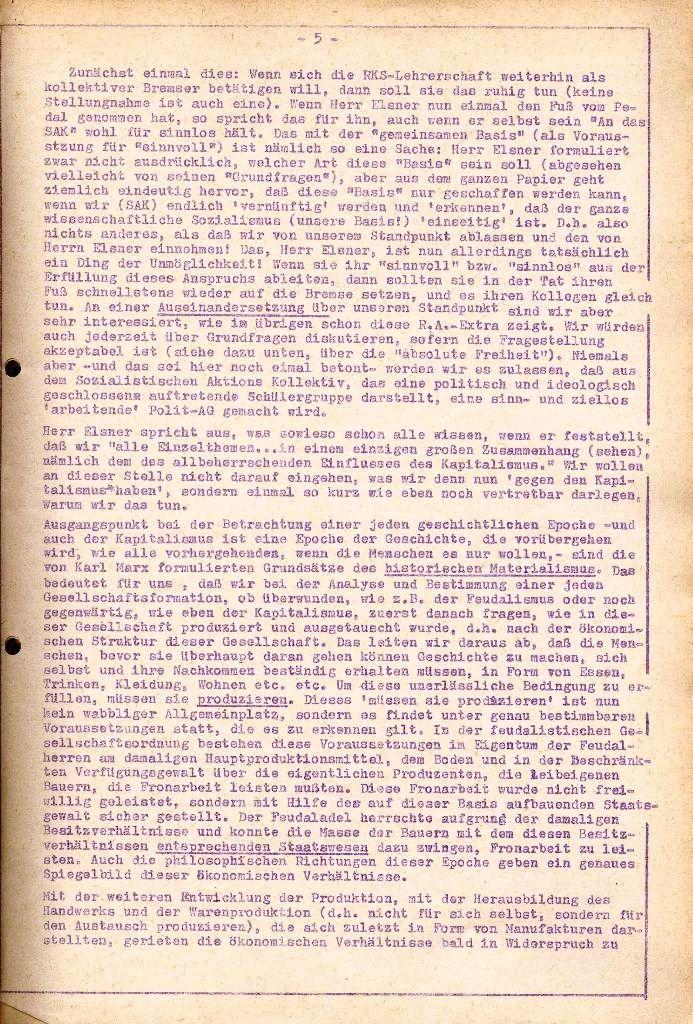 Rote Aktion _ Organ des SAK, Extra, April 1972, Seite 5