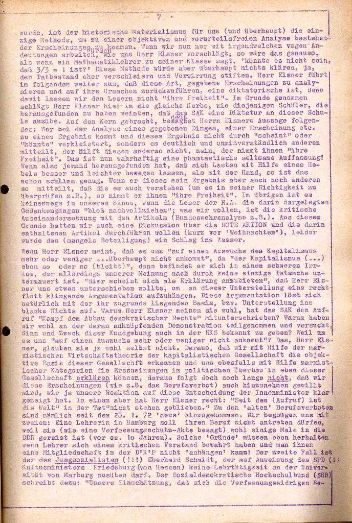 Rote Aktion _ Organ des SAK, Extra, April 1972, Seite 7