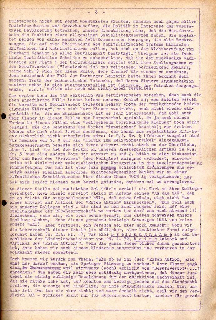 Rote Aktion _ Organ des SAK, Extra, April 1972, Seite 8