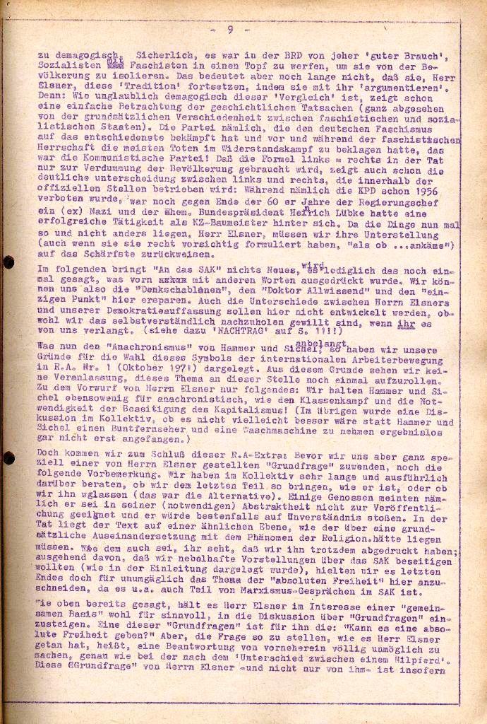 Rote Aktion _ Organ des SAK, Extra, April 1972, Seite 9