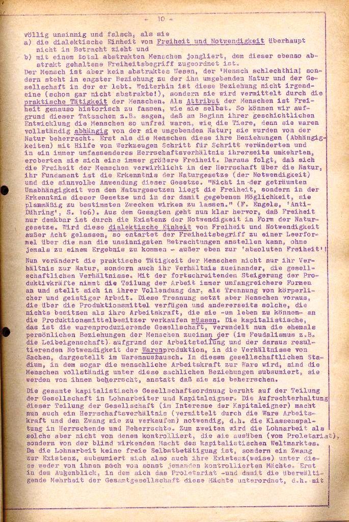 Rote Aktion _ Organ des SAK, Extra, April 1972, Seite 10