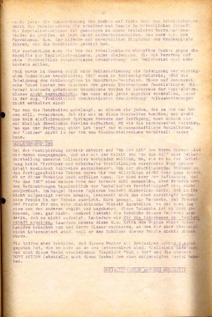 Rote Aktion _ Organ des SAK, Extra, April 1972, Seite 12