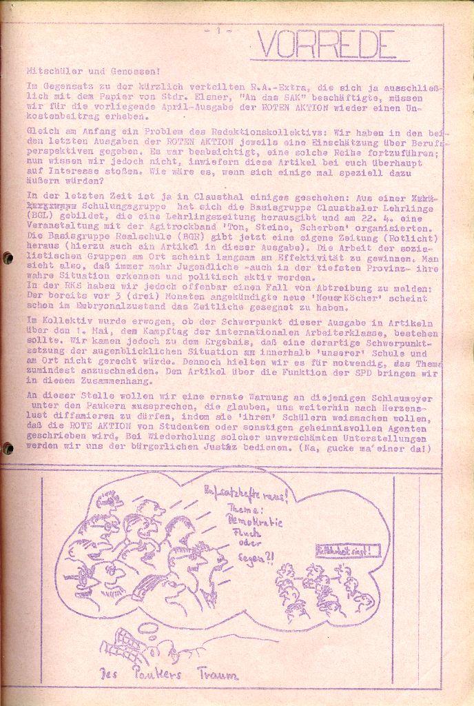 Rote Aktion _ Organ des SAK, Nr. 6, April 1972, Seite 1