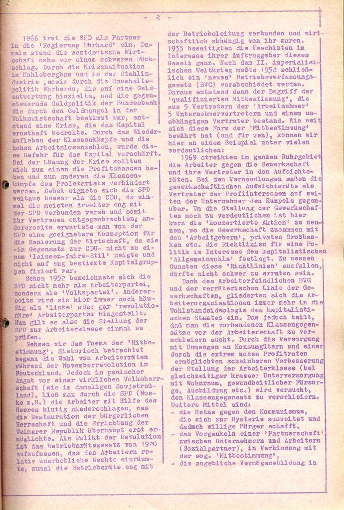 Rote Aktion _ Organ des SAK, Nr. 6, April 1972, Seite 2