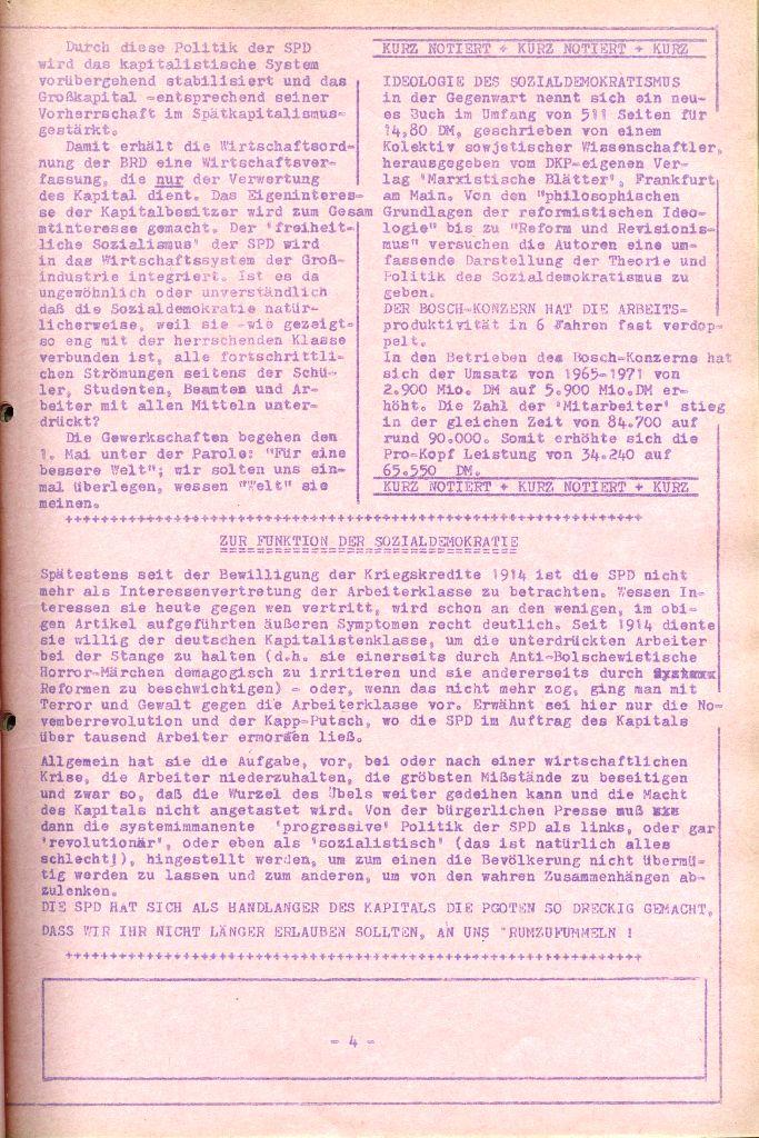 Rote Aktion _ Organ des SAK, Nr. 6, April 1972, Seite 4