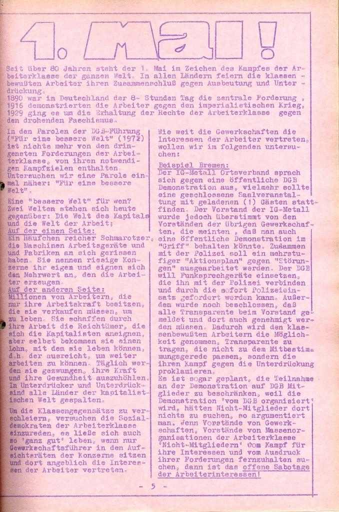 Rote Aktion _ Organ des SAK, Nr. 6, April 1972, Seite 5