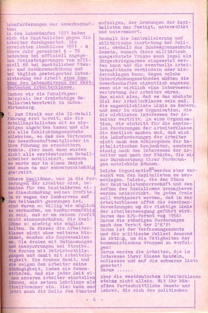 Rote Aktion _ Organ des SAK, Nr. 6, April 1972, Seite 6