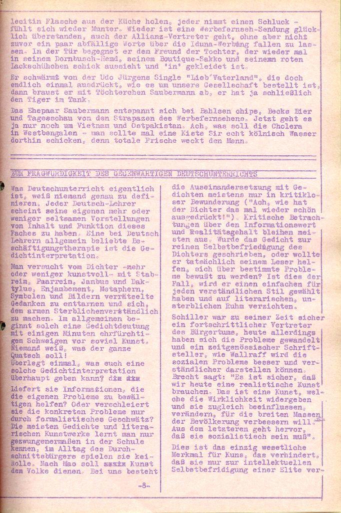 Rote Aktion _ Organ des SAK, Nr. 6, April 1972, Seite 8
