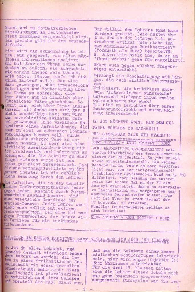 Rote Aktion _ Organ des SAK, Nr. 6, April 1972, Seite 9