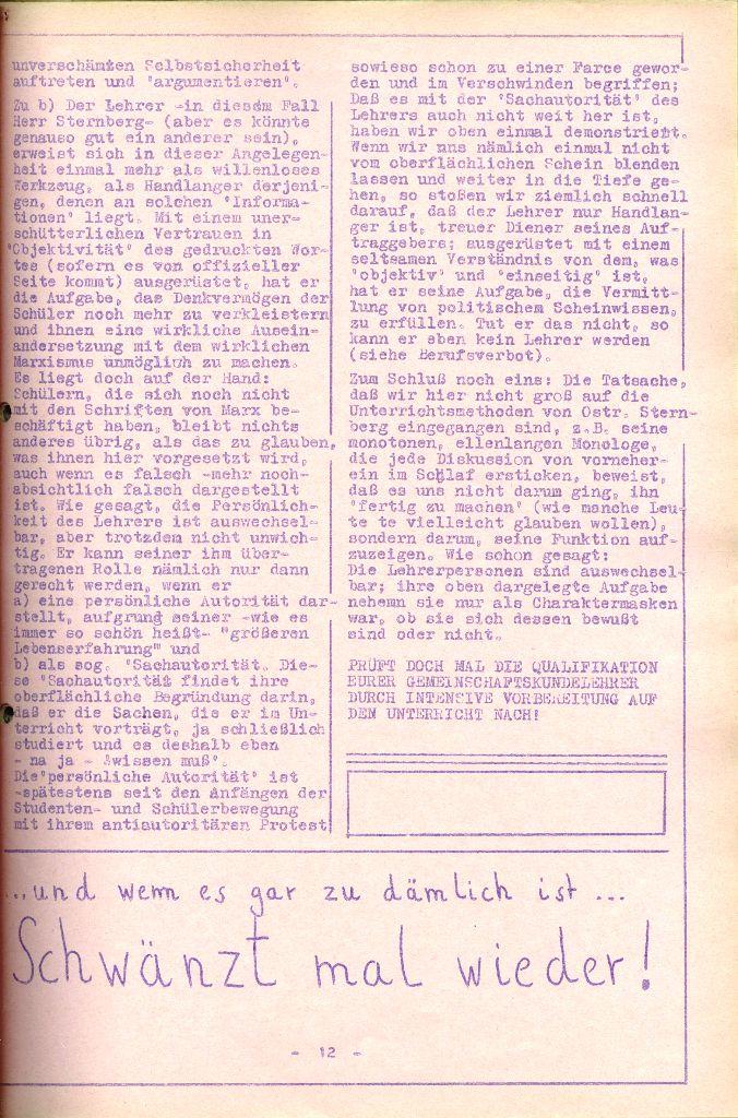 Rote Aktion _ Organ des SAK, Nr. 6, April 1972, Seite 12