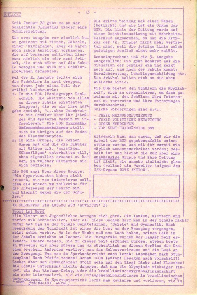 Rote Aktion _ Organ des SAK, Nr. 6, April 1972, Seite 13