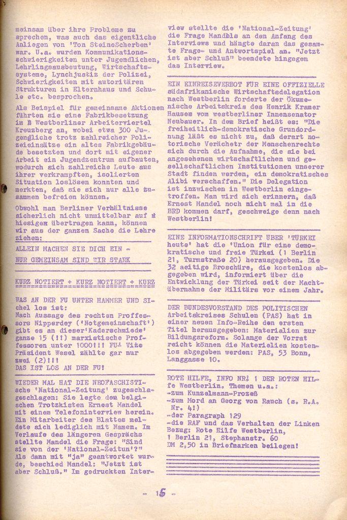 Rote Aktion _ Organ des SAK, Nr. 6, April 1972, Seite 15