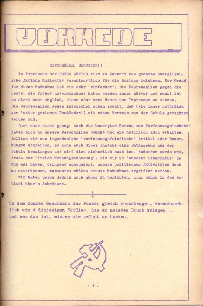 Rote Aktion _ Organ des SAK, Nr. 7, Mai/Juni 1972, Seite 1