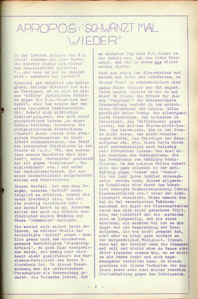 Rote Aktion _ Organ des SAK, Nr. 7, Mai/Juni 1972, Seite 2