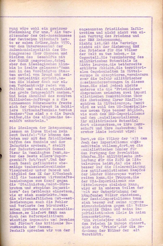 Rote Aktion _ Organ des SAK, Nr. 7, Mai/Juni 1972, Seite 8