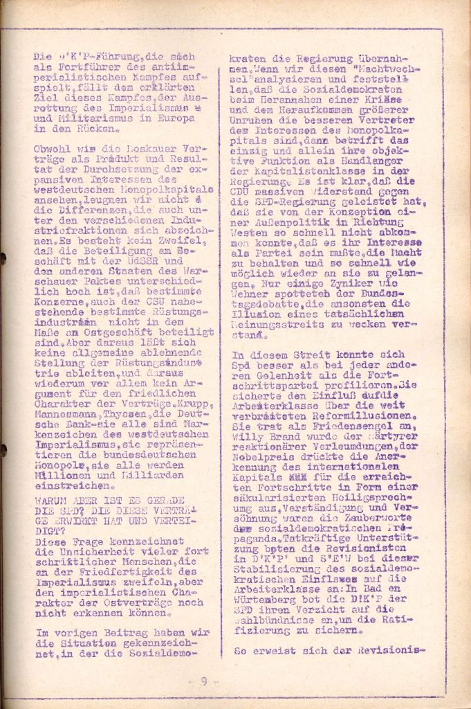 Rote Aktion _ Organ des SAK, Nr. 7, Mai/Juni 1972, Seite 9