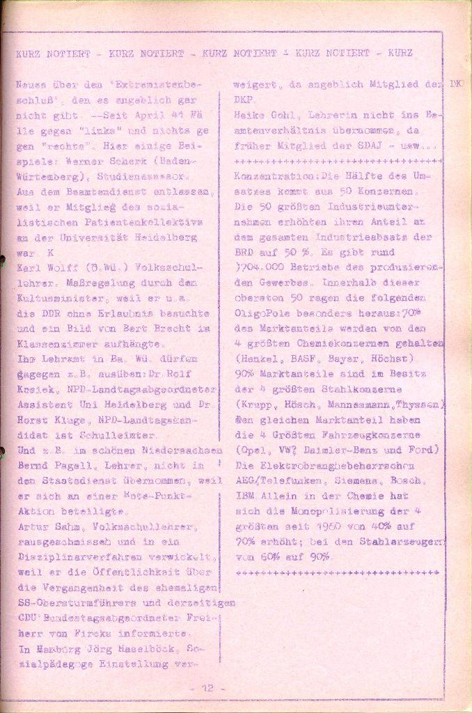 Rote Aktion _ Organ des SAK, Nr. 7, Mai/Juni 1972, Seite 12