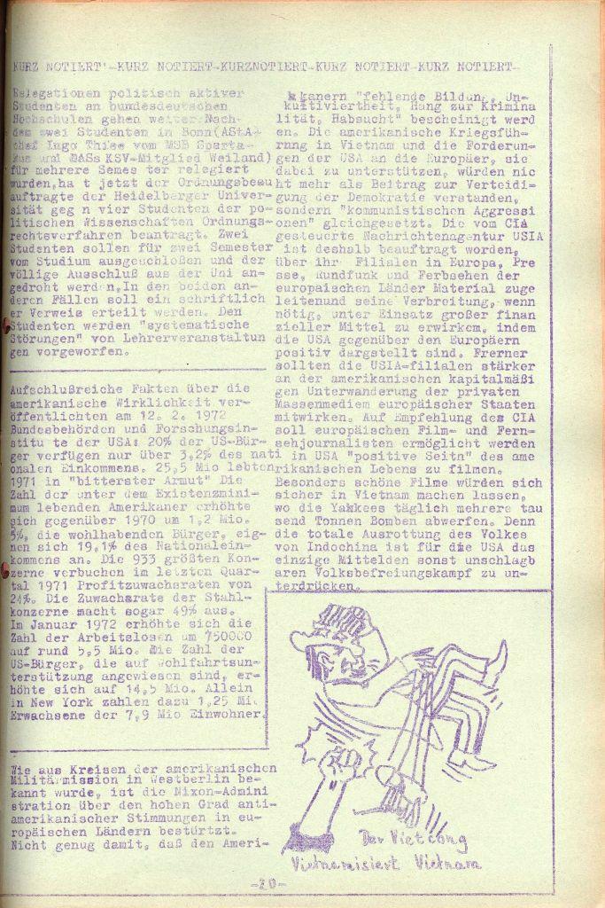 Rote Aktion _ Organ des SAK, Nr. 7, Mai/Juni 1972, Seite 20
