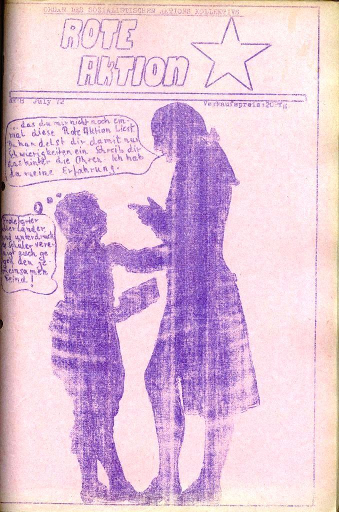 Rote Aktion _ Organ des SAK, Nr. 8, Juli, Titelseite