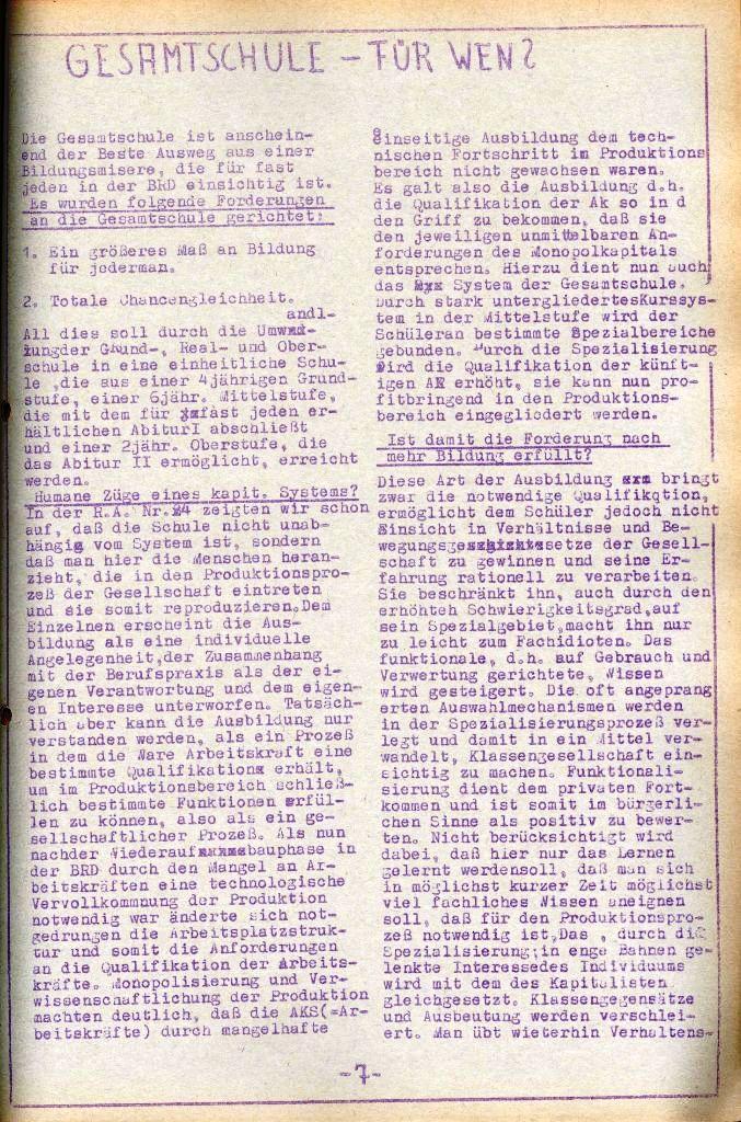Rote Aktion _ Organ des SAK, Nr. 8, Juli, Seite 7