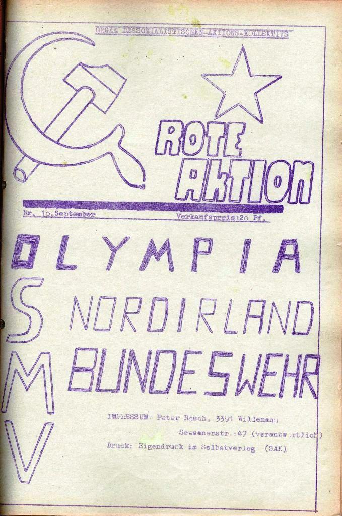 Rote Aktion _ Organ des SAK, Nr. 10, September, Seite 1