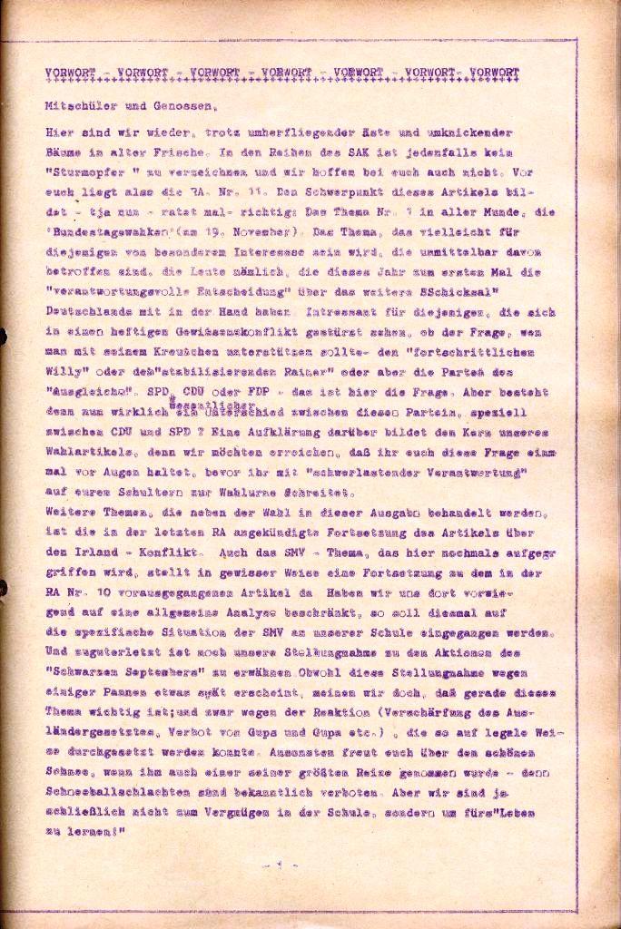 Rote Aktion _ Organ des SAK, Nr. 11, November, Seite 1