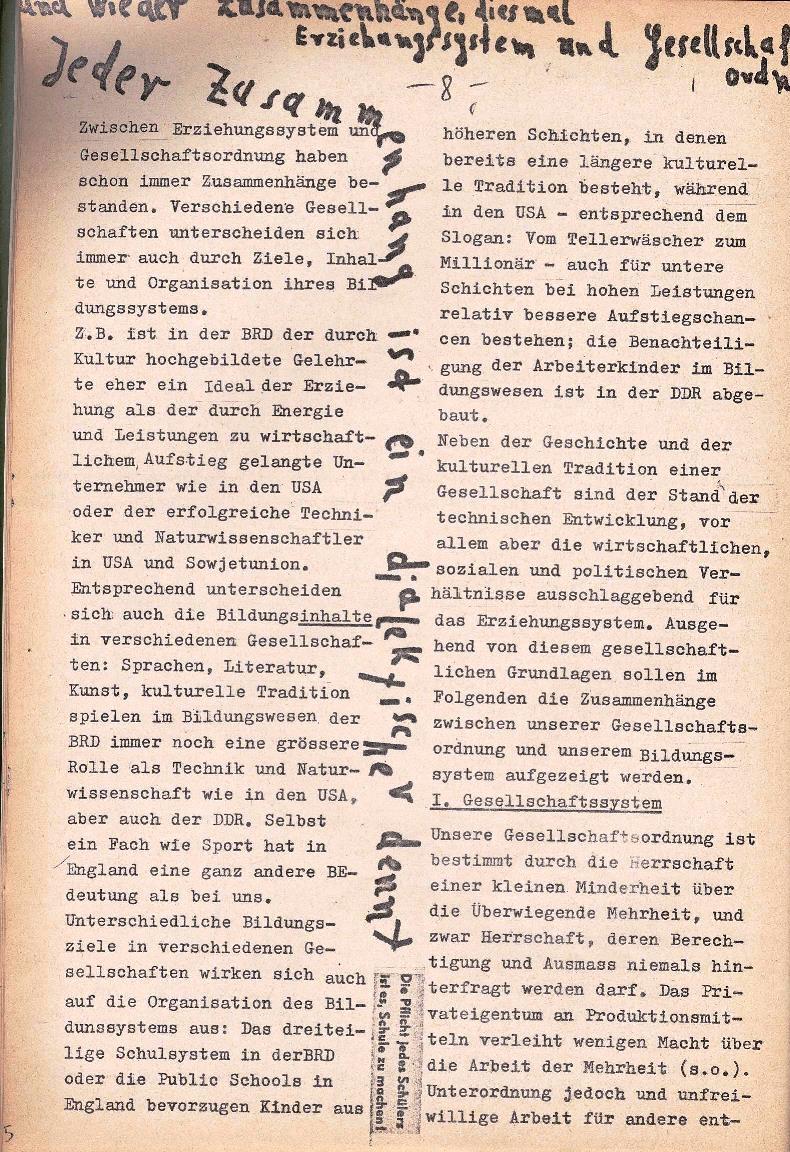 Rote Schule _ ZO der SSG, 1. Jg., 1969, Nr. 1, Seite 8